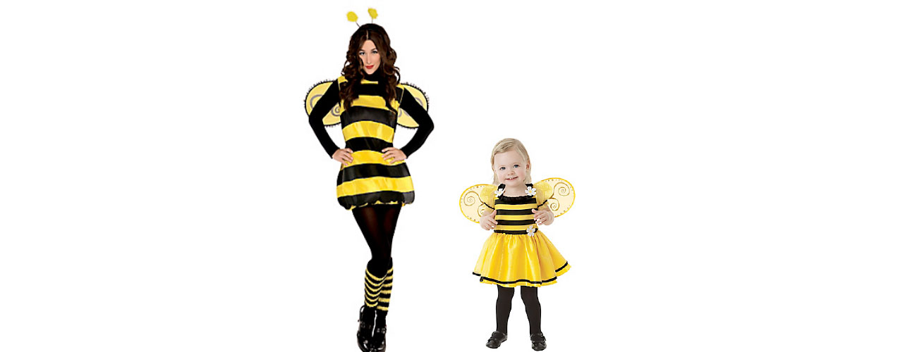 Little Stinger Bee and Adult Stinger Bee found at Party City