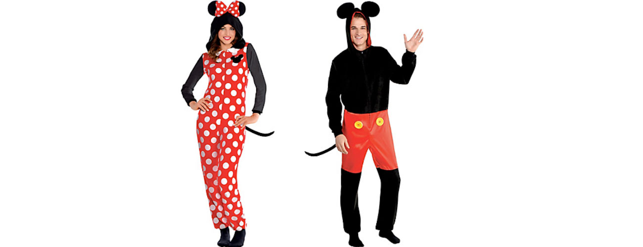 Mr. and Mrs. Mickey and Minnie Mouse found at Party City